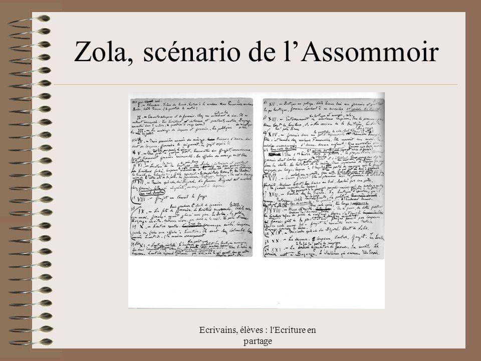 Zola, scénario de l'Assommoir