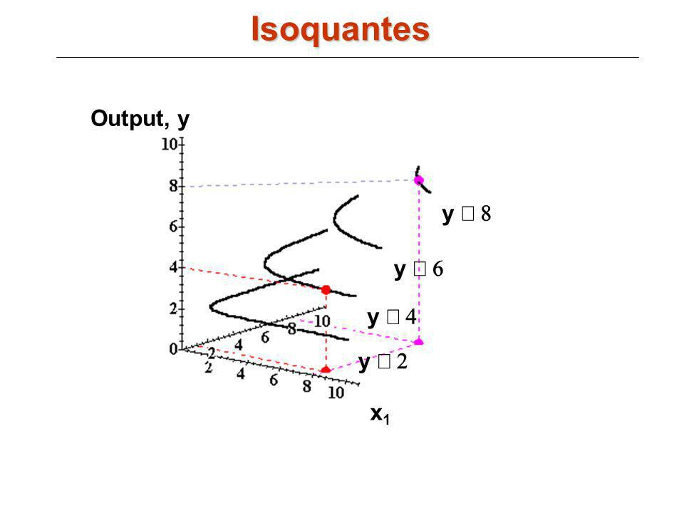 Isoquantes Output, y y º 8 y º 6 y º 4 x2 y º 2 x1