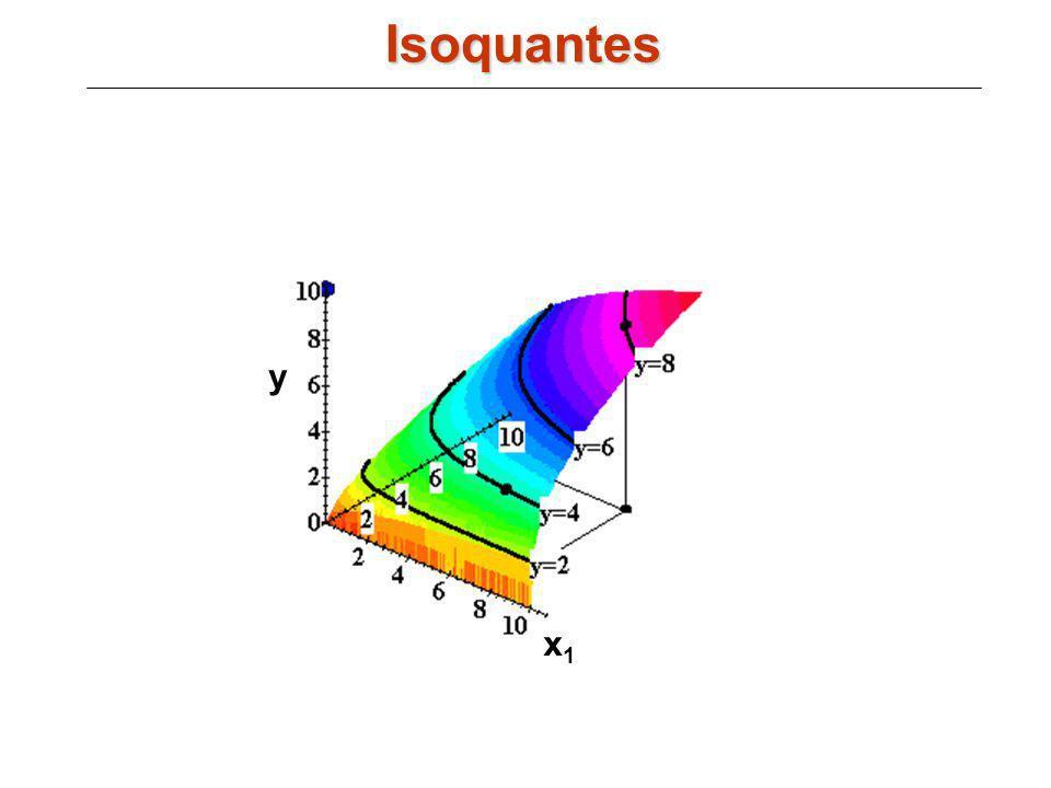 Isoquantes y x1