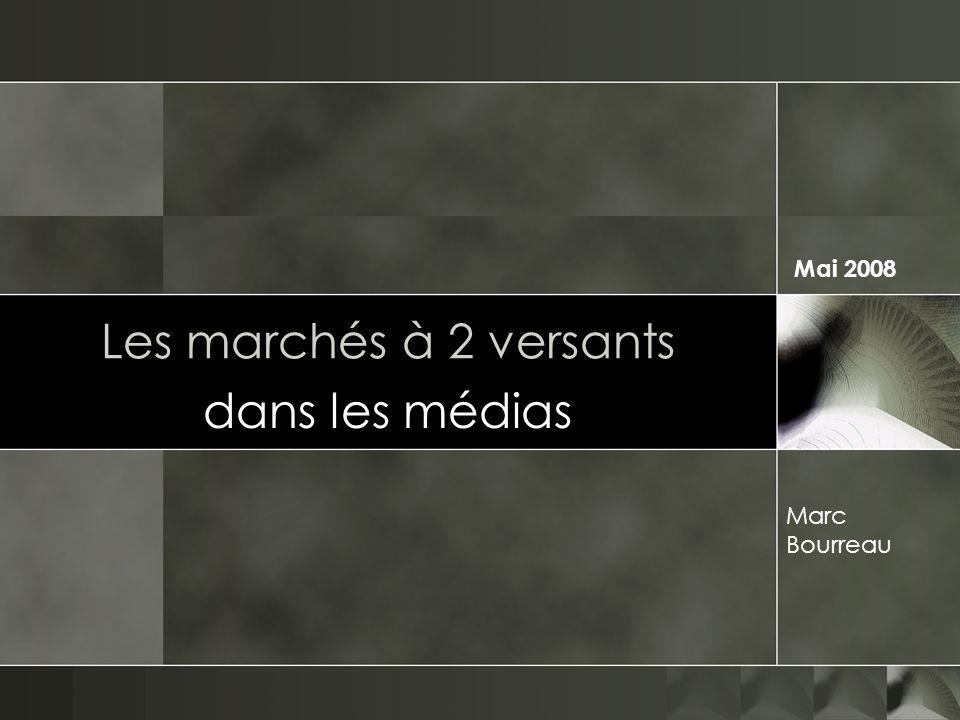 Mai 2008 Les marchés à 2 versants dans les médias Marc Bourreau