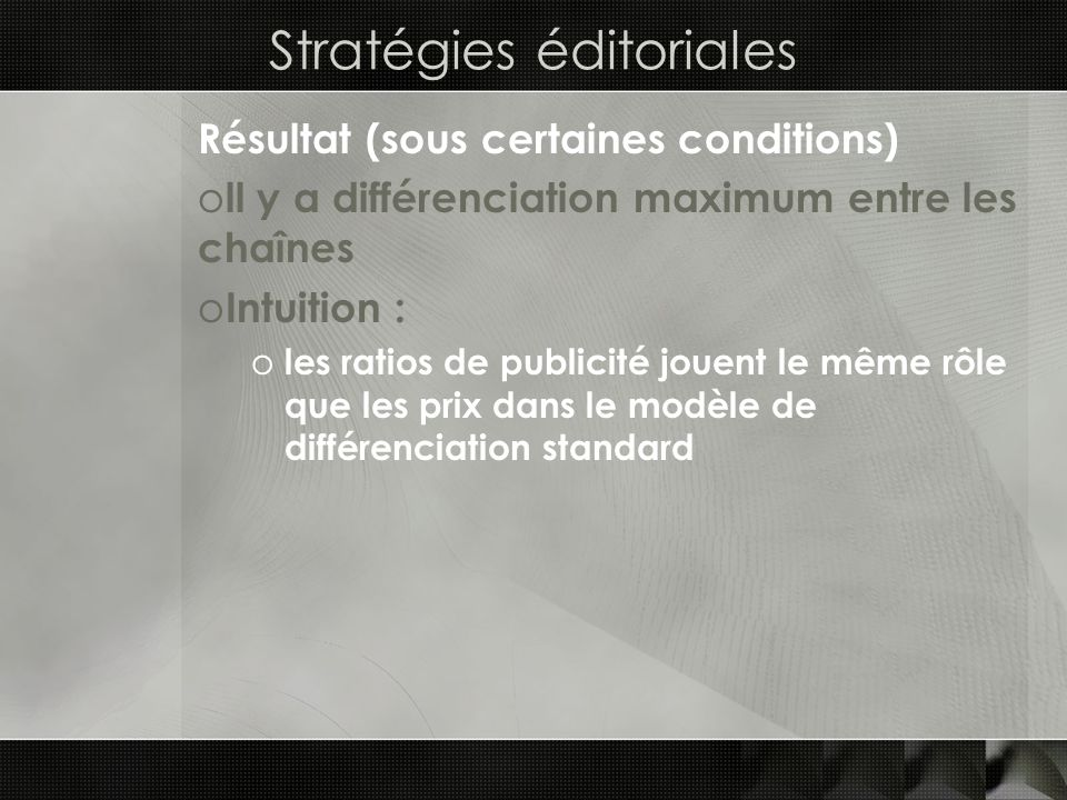 Stratégies éditoriales