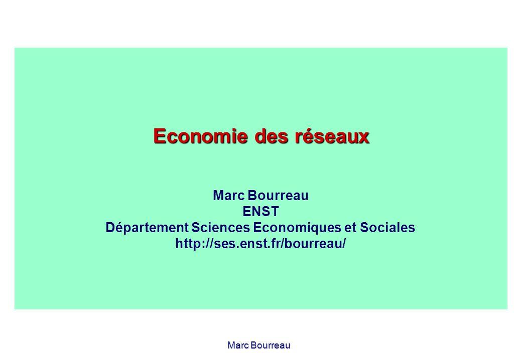 Economie des réseaux Marc Bourreau ENST Département Sciences Economiques et Sociales http://ses.enst.fr/bourreau/