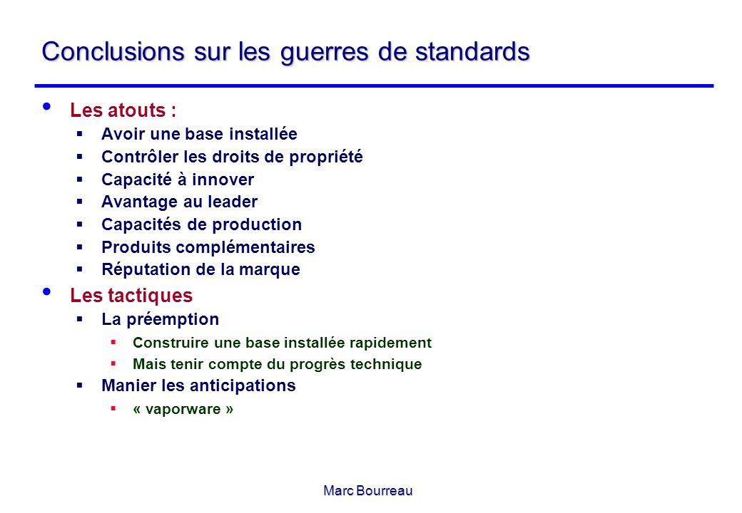 Conclusions sur les guerres de standards
