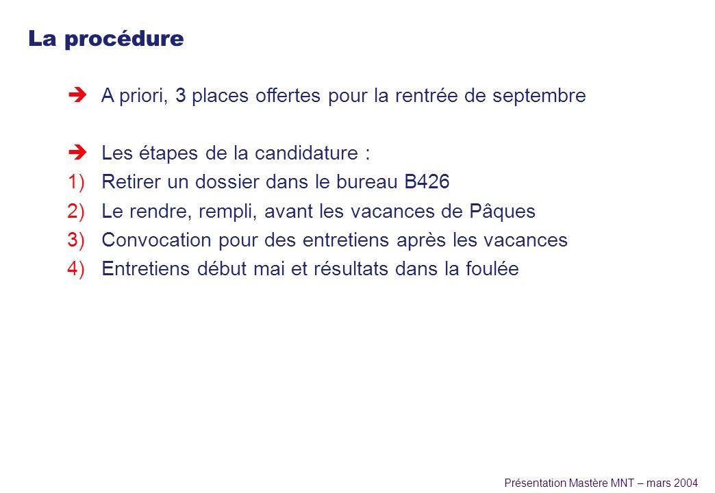 La procédure A priori, 3 places offertes pour la rentrée de septembre