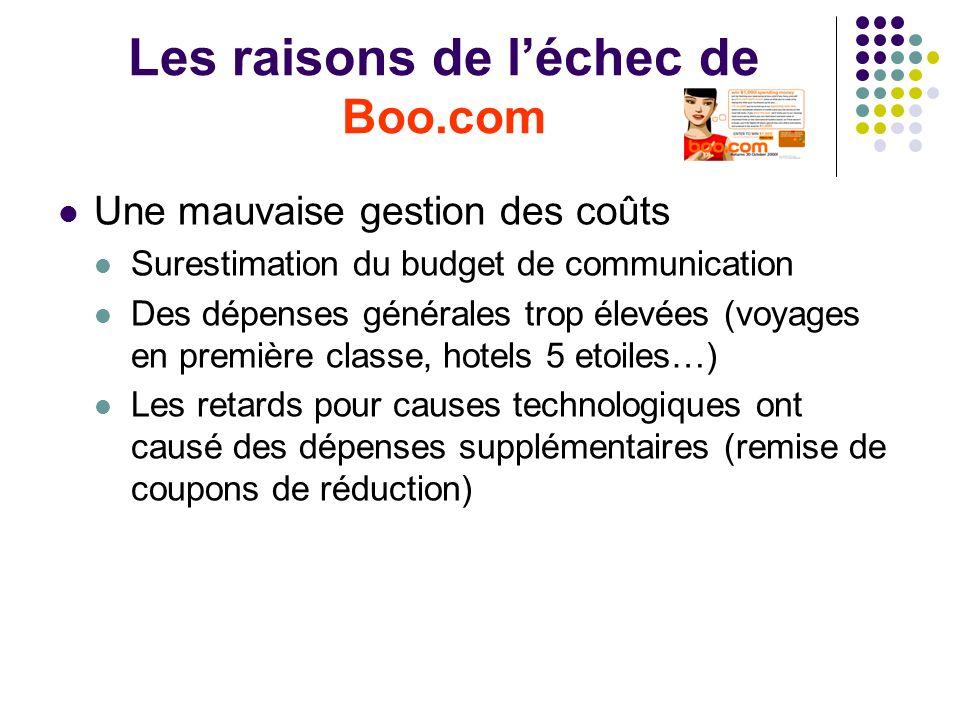 Les raisons de l'échec de Boo.com