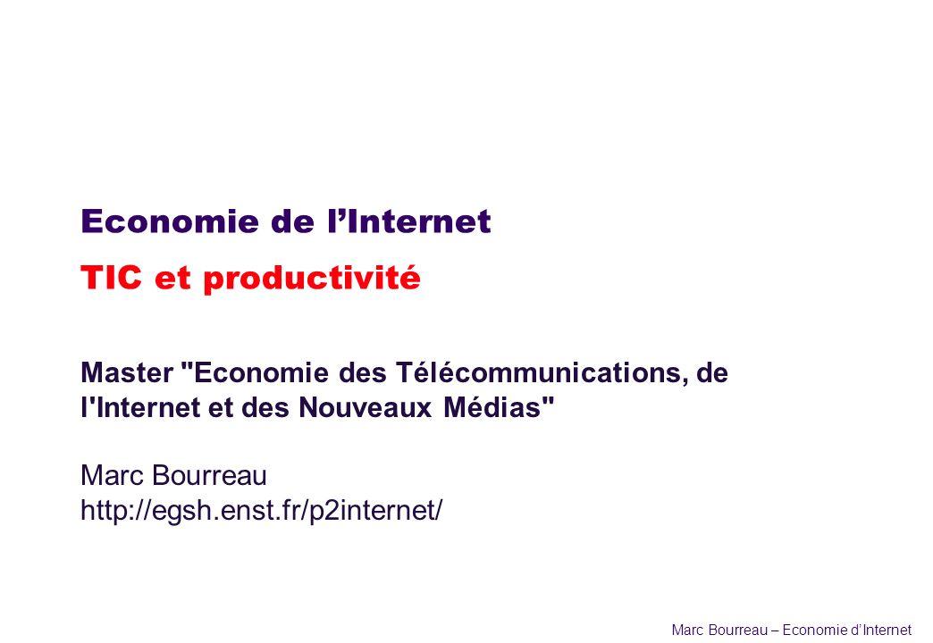 Economie de l'Internet TIC et productivité