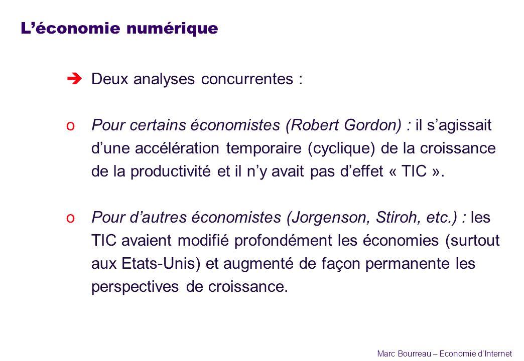 L'économie numérique Deux analyses concurrentes :