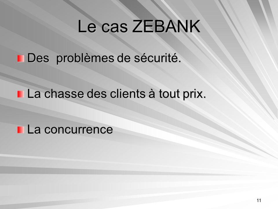 Le cas ZEBANK Des problèmes de sécurité.