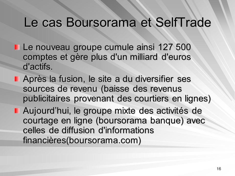 Le cas Boursorama et SelfTrade
