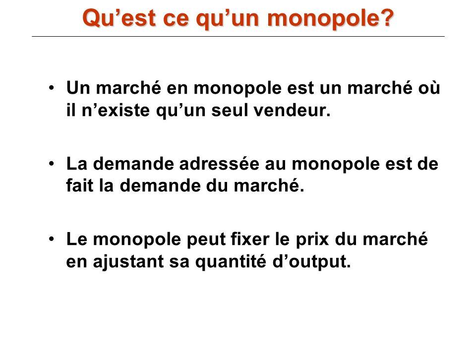 Qu'est ce qu'un monopole