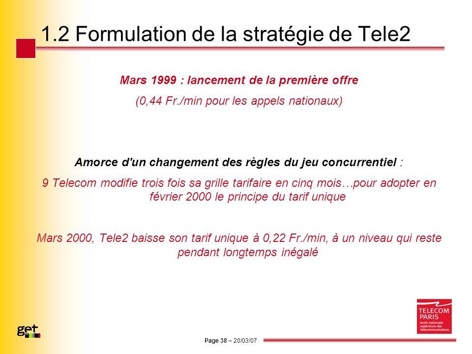 1.2 Formulation de la stratégie de Tele2