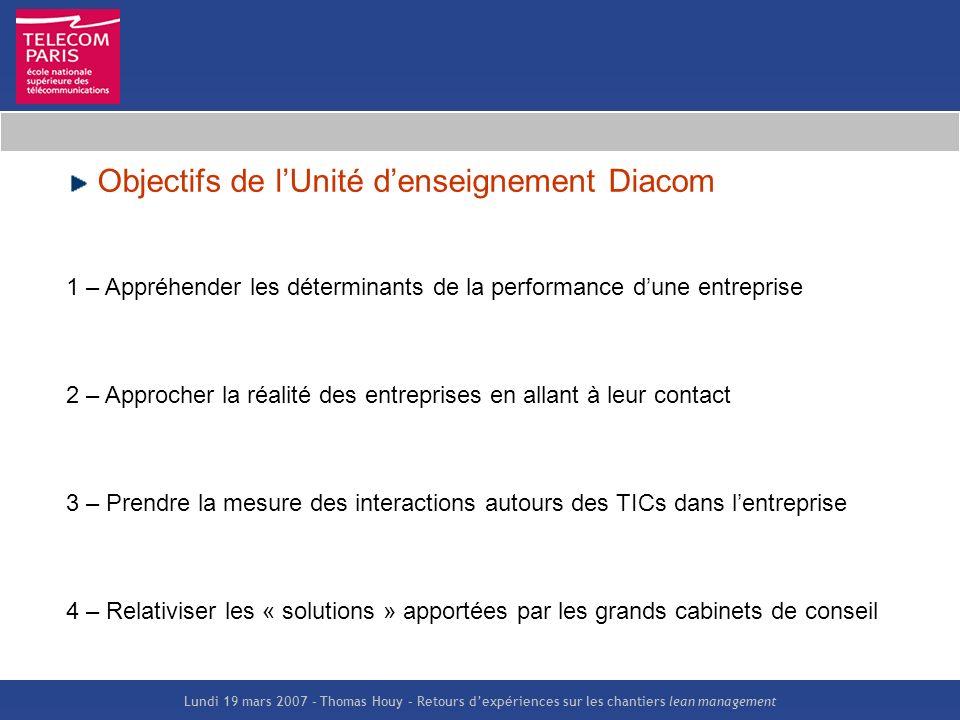 Objectifs de l'Unité d'enseignement Diacom