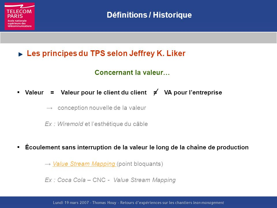 Définitions / Historique