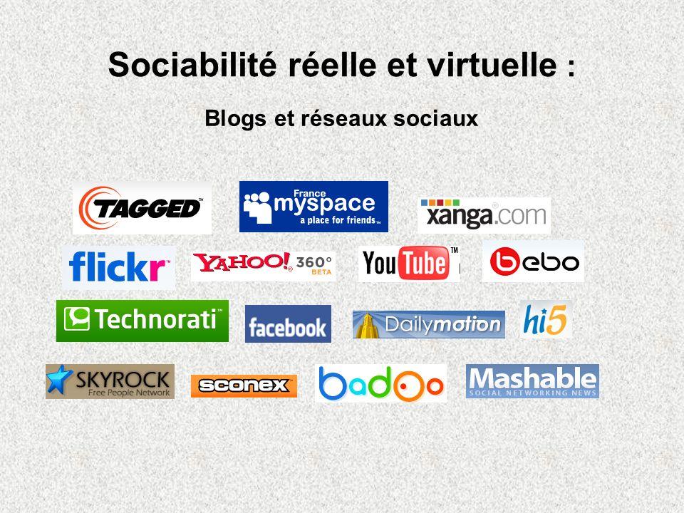 Sociabilité réelle et virtuelle :