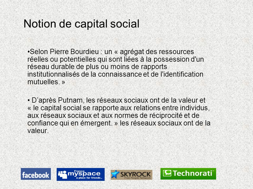 Notion de capital social