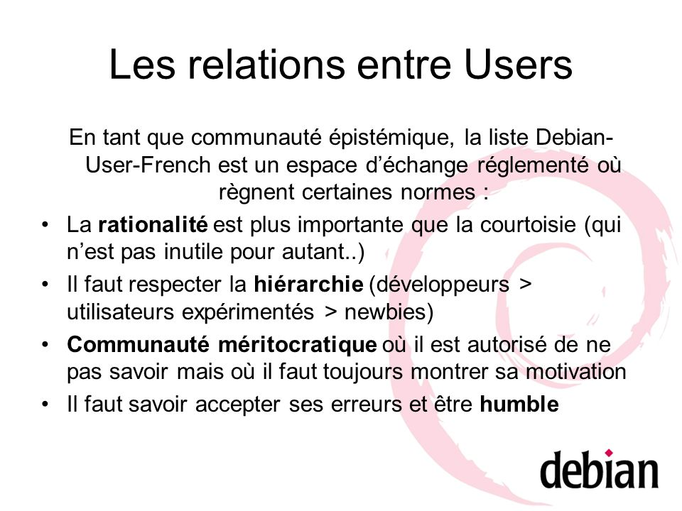 Les relations entre Users