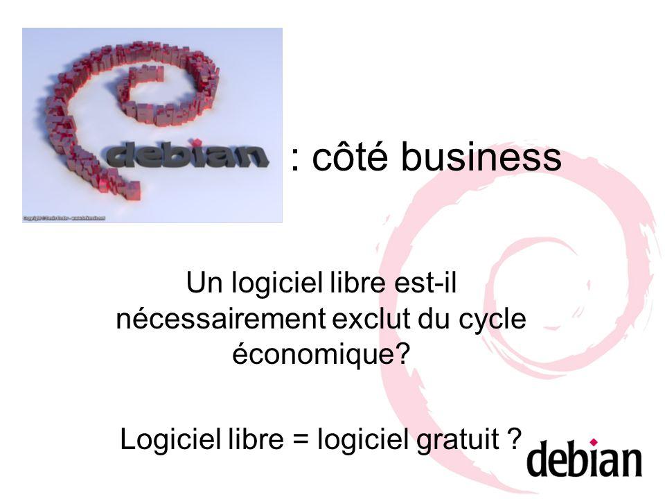 : côté business Un logiciel libre est-il nécessairement exclut du cycle économique.