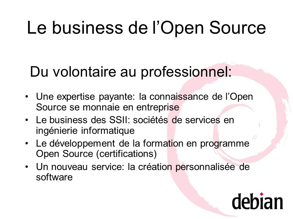 Le business de l'Open Source