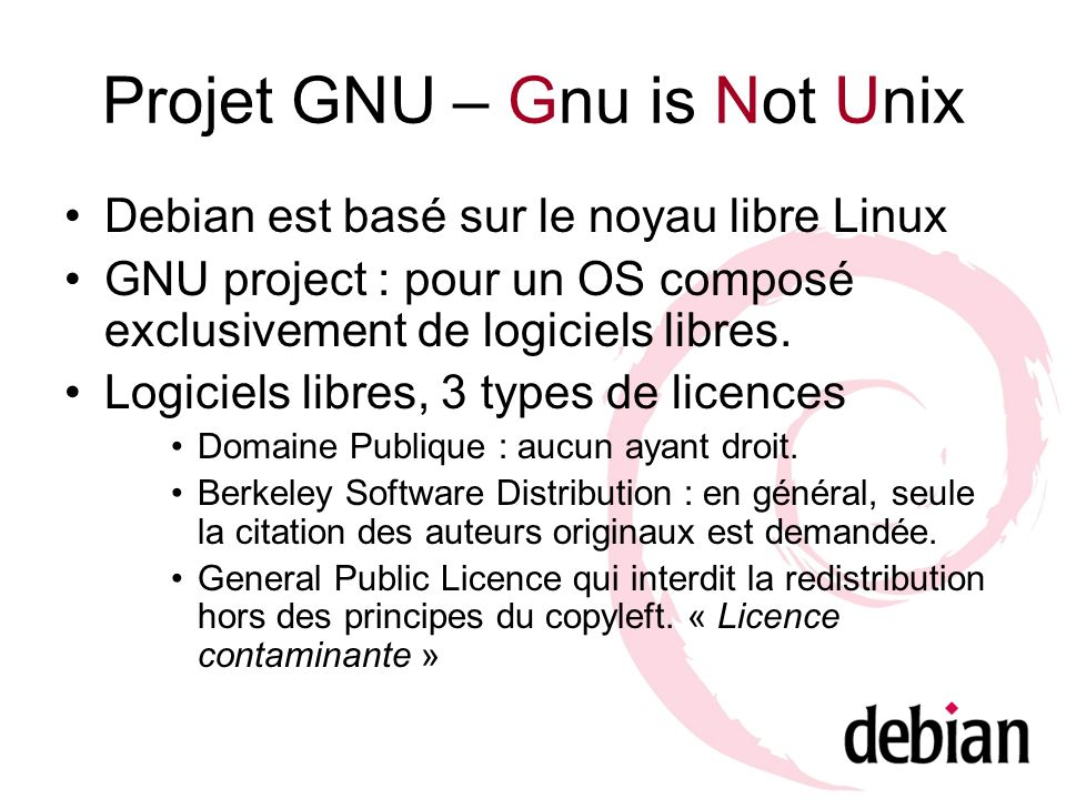 Projet GNU – Gnu is Not Unix