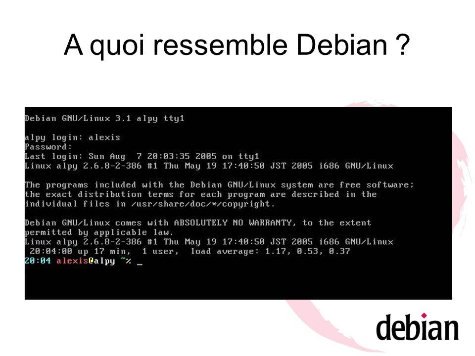 A quoi ressemble Debian