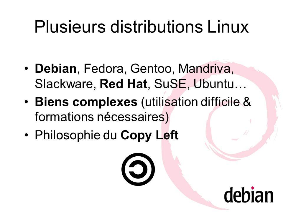 Plusieurs distributions Linux