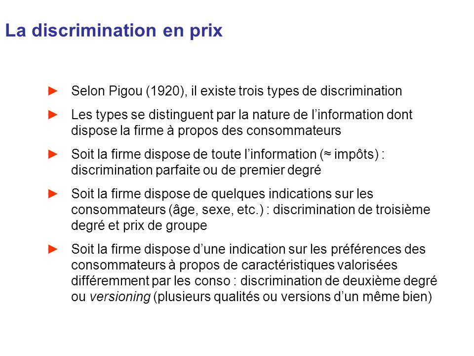 La discrimination en prix
