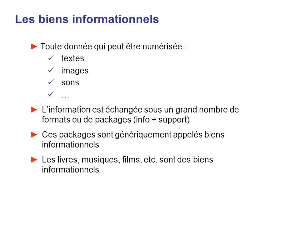Les biens informationnels