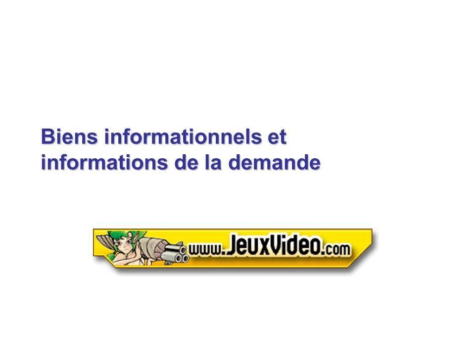 Biens informationnels et informations de la demande