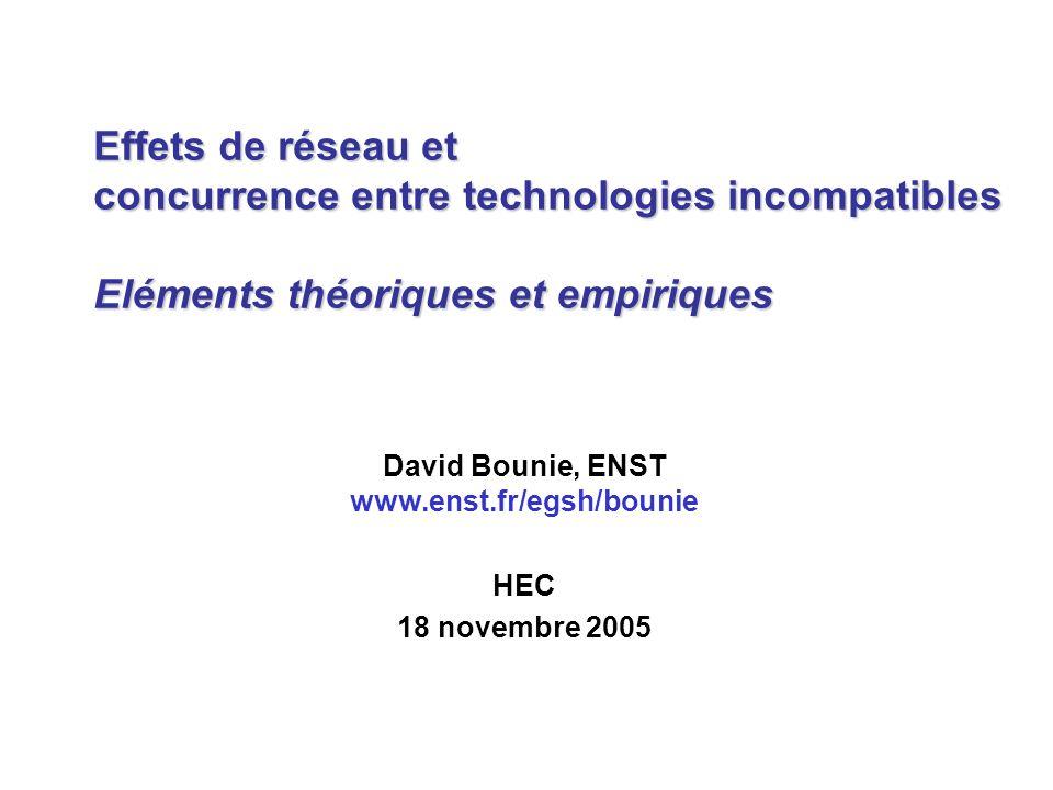 David Bounie, ENST www.enst.fr/egsh/bounie HEC 18 novembre 2005