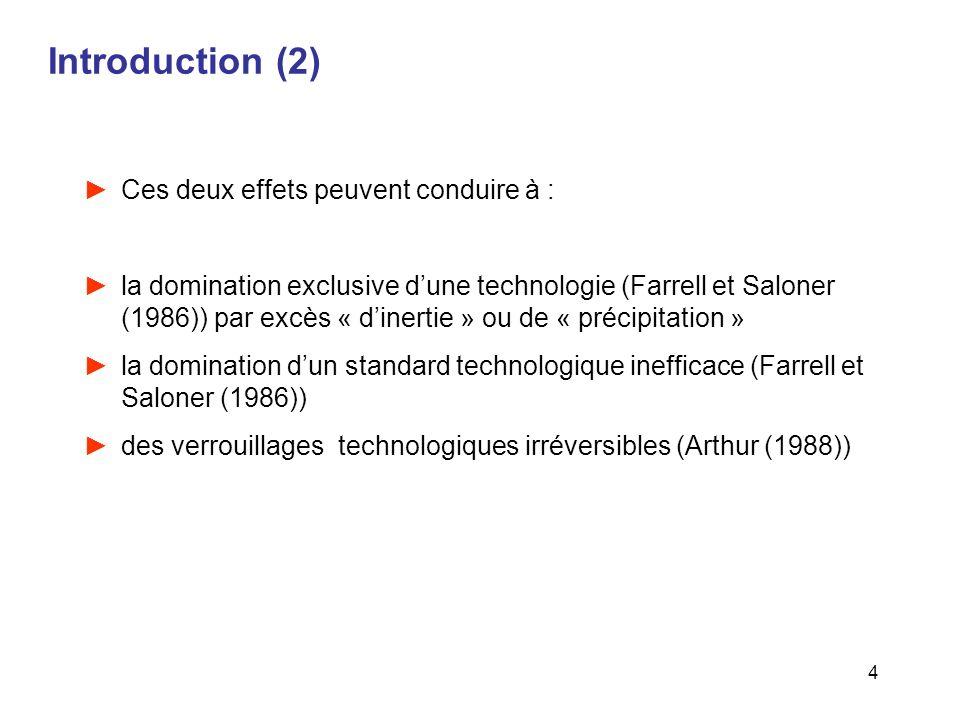 Introduction (2) Ces deux effets peuvent conduire à :
