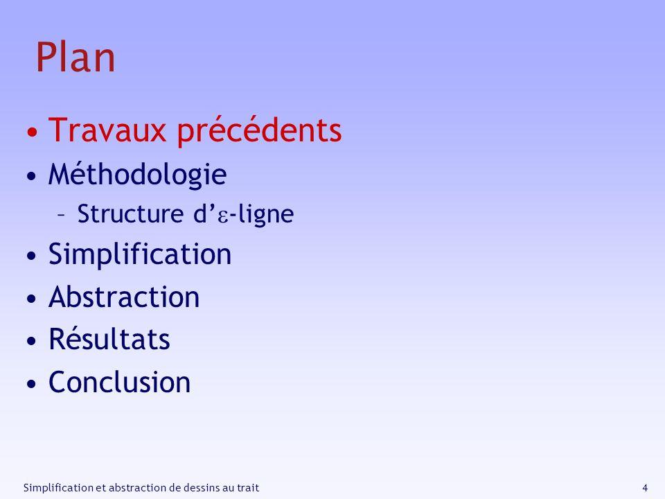 Plan Travaux précédents Méthodologie Simplification Abstraction