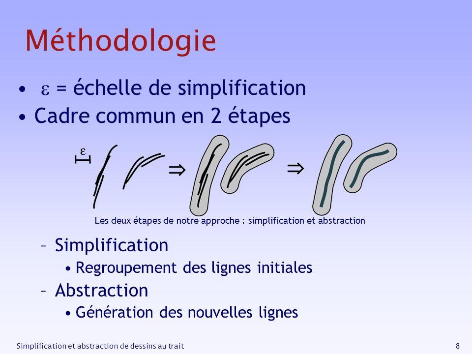 Les deux étapes de notre approche : simplification et abstraction