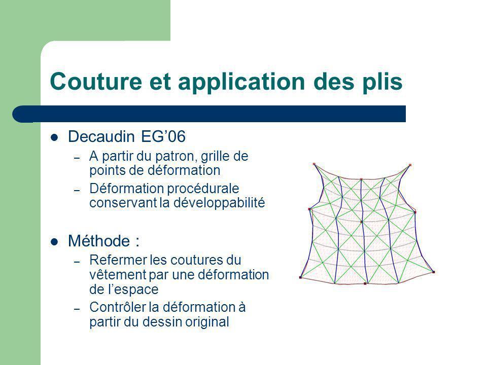 Couture et application des plis
