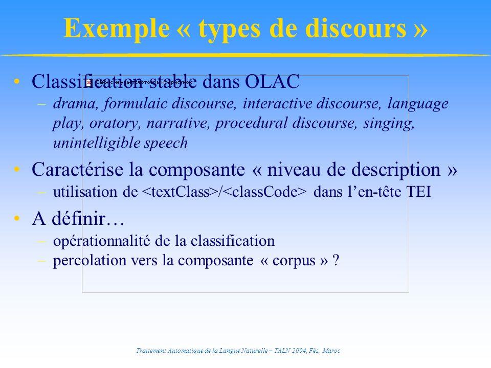 Exemple « types de discours »