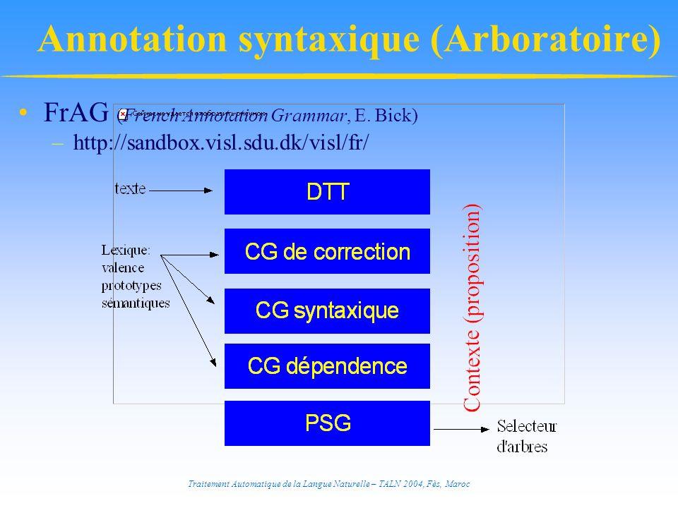 Annotation syntaxique (Arboratoire)
