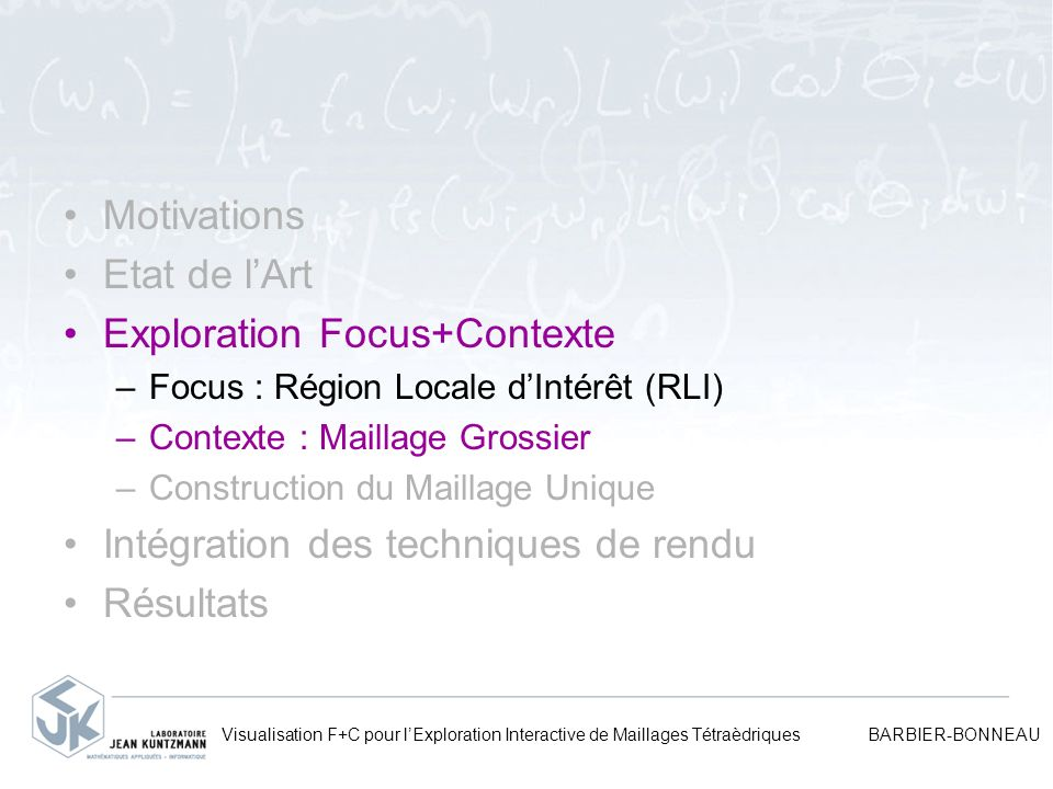 Exploration Focus+Contexte
