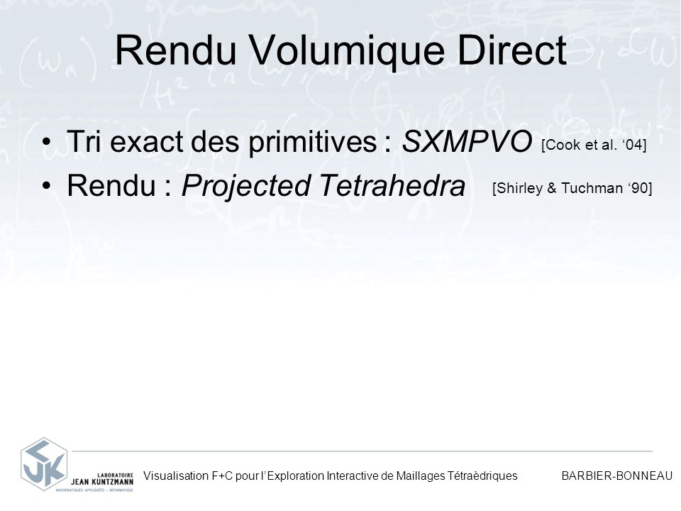 Rendu Volumique Direct