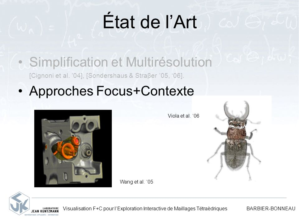 État de l'Art Simplification et Multirésolution
