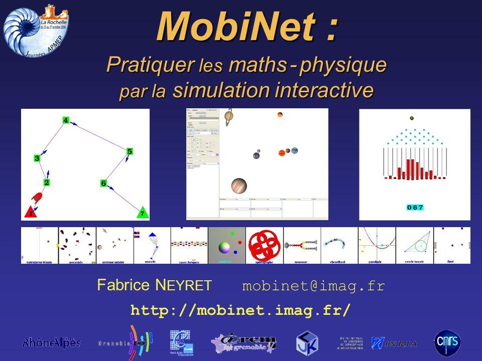 MobiNet : Pratiquer les maths - physique par la simulation interactive