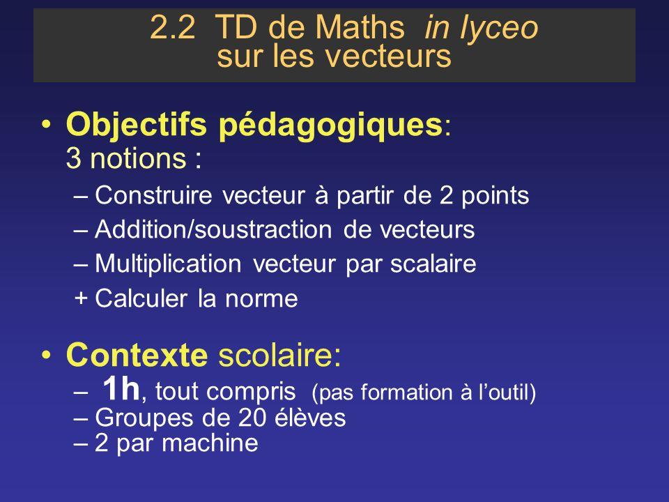 2.2 TD de Maths in lyceo sur les vecteurs