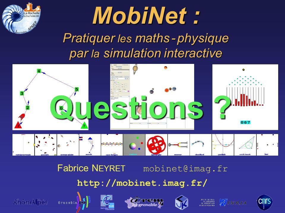 Questions MobiNet : Pratiquer les maths - physique