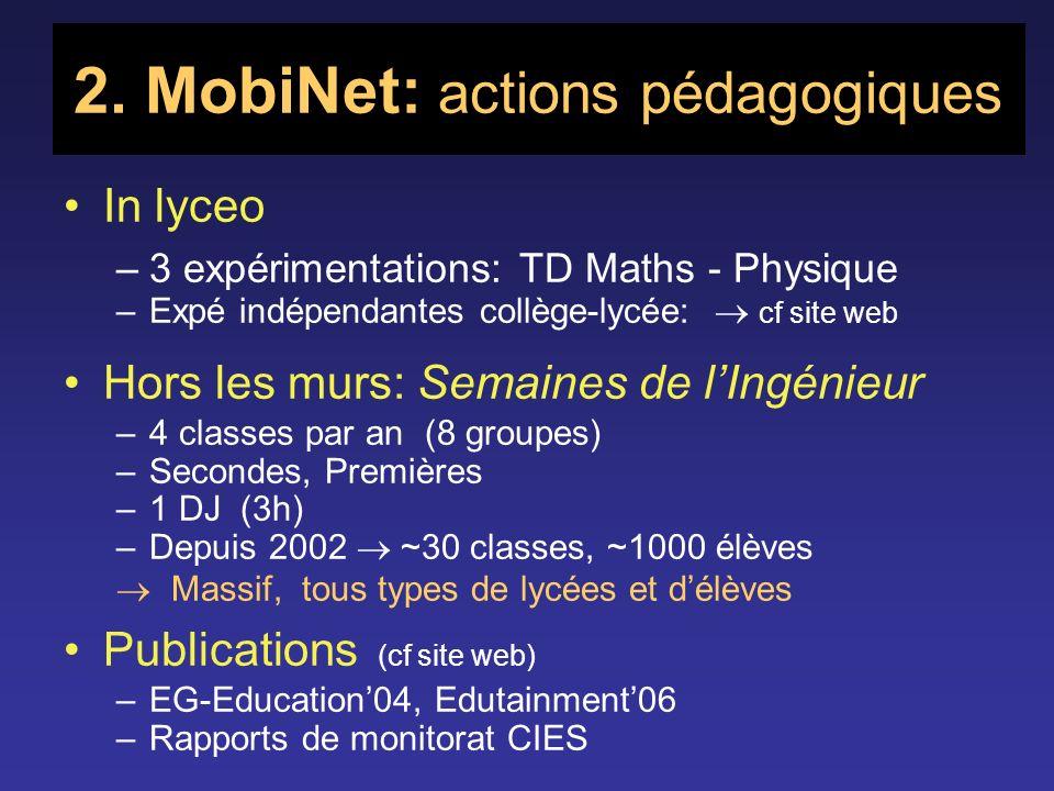 2. MobiNet: actions pédagogiques