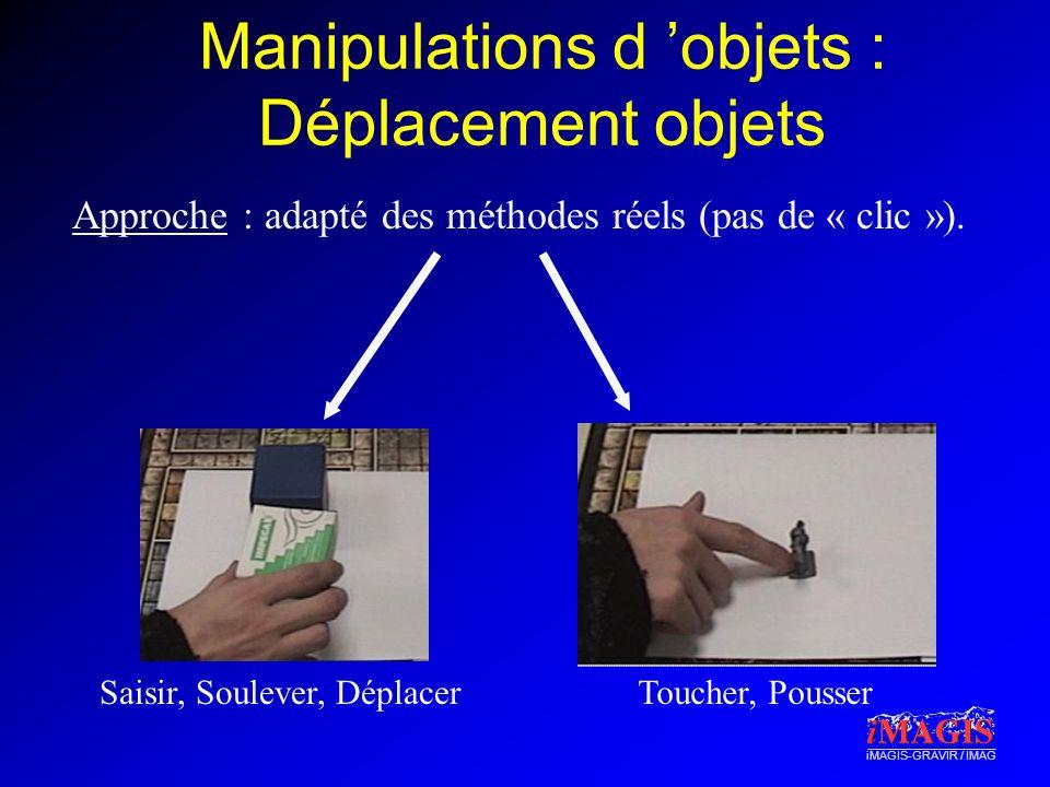 Manipulations d 'objets : Déplacement objets