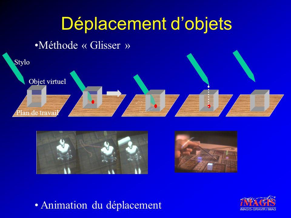 Déplacement d'objets Méthode « Glisser » Animation du déplacement