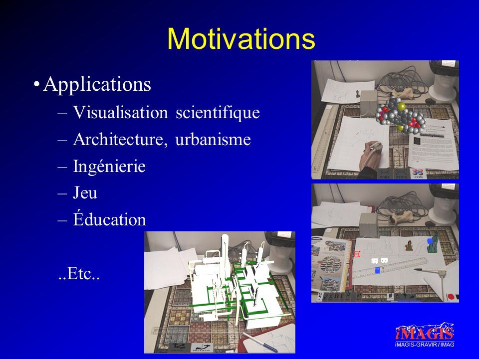 Motivations Applications Visualisation scientifique