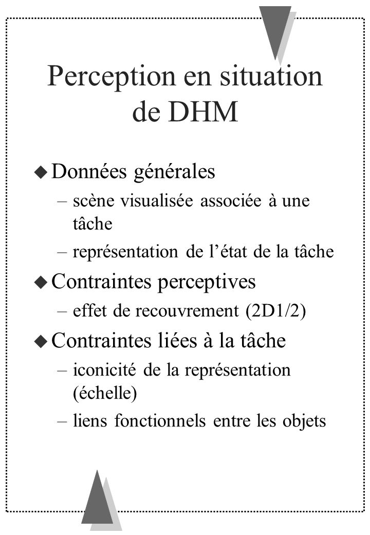 Perception en situation de DHM