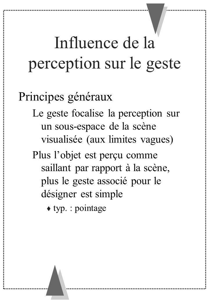 Influence de la perception sur le geste