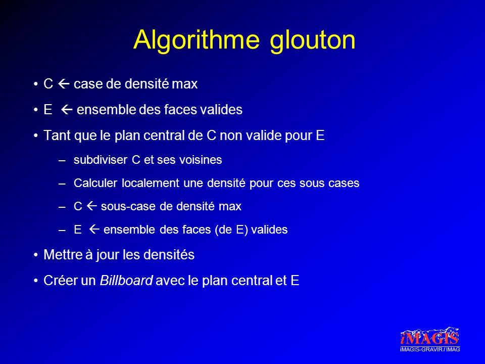 Algorithme glouton C  case de densité max