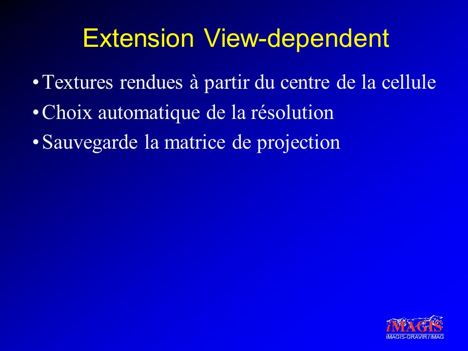 Extension View-dependent