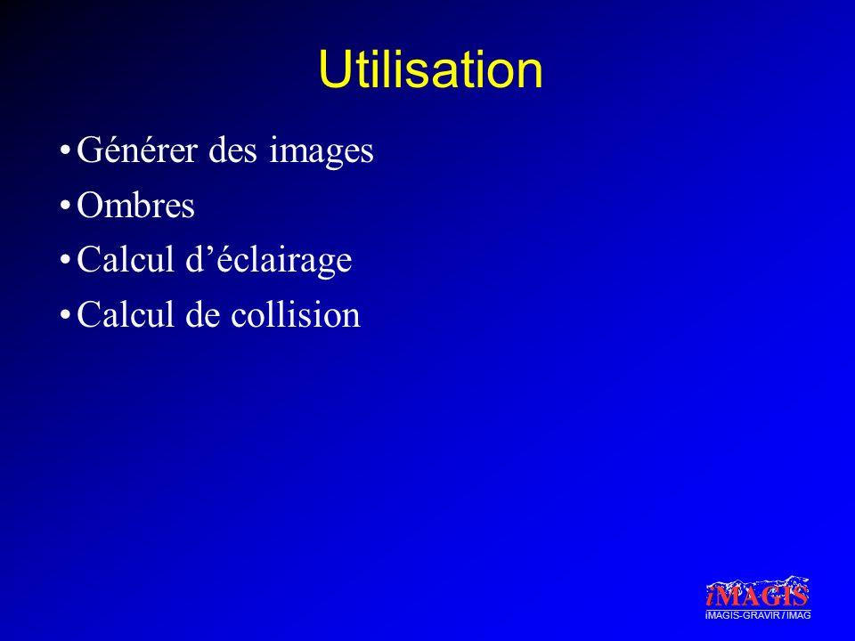 Utilisation Générer des images Ombres Calcul d'éclairage